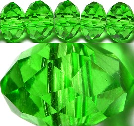 100pcs 6mm Spacers Crystal Beads Green JF129