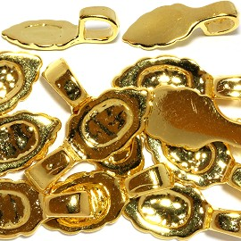 10pc 17x7x5mm 3mm Hole Leaf Bail Gold JF1300