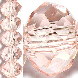 100pc 6mm Crystal Bead Spacer Light Peach JF1506