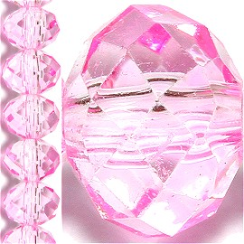 100pc 6mm Crystal Bead Spacer Light Magenta JF1507