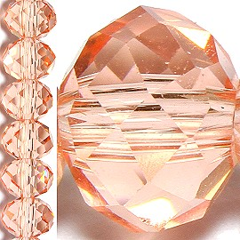 100pc 6mm Crystal Bead Spacer Peach JF1508