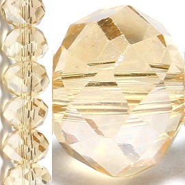 100pc 6mm Crystal Bead Spacer Light Tan JF1509