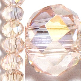 200pc 2mm Crystal Bead Spacer Peach Aura JF1523