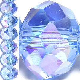 70pc 12mm Crystal Bead Spacer Light Blue AB JF1531