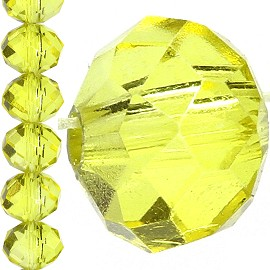 70pc 8mm Crystal Bead Spacer Yellow JF1535