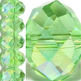 70pc 10mm Crystal Bead Spacer Light Green Aura JF1537
