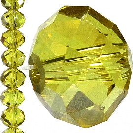 70pc 10mm Crystal Bead Spacer Yellow JF1539