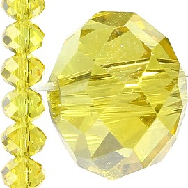 52pc 8mm Crystal Bead Spacer Yellow JF1540