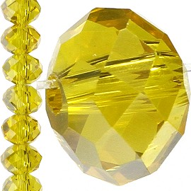 100pc 6mm Crystal Bead Spacer Yellow JF1541