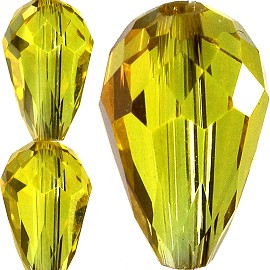60pc 12x8mm Tear Crystal Bead Spacer Yellow AB JF1543