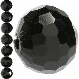 70pc 8mm Round Crystal Bead Spacer Black JF1568