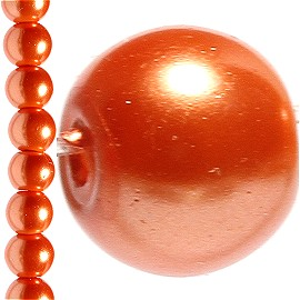 142pc 6mm Faux Pearl Bead Spacer Orange JF1575