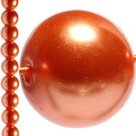 80pc 10mm Faux Pearl Bead Spacer Orange JF1577