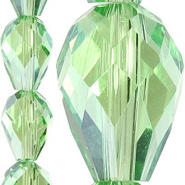 70pc 8x6mm Tear Drop Crystal Bead Spacer Light Green JF1642