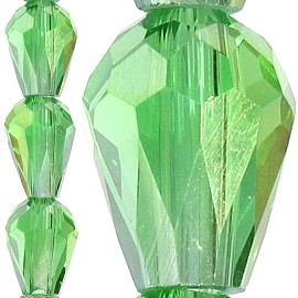 70pc 8x6mm Tear Drop Crystal Bead Spacer Green JF1643