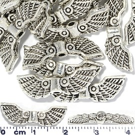 20pc 22x7x4mm Wing Spacer Jewely Part Silver JF1662