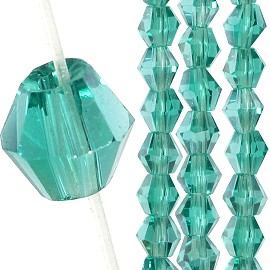 145pc 3mm Bicone Crystal Bead Spacers Teal JF1674