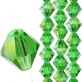 40pc 8mm Bicone Crystal Bead Spacers Green Aura JF1704