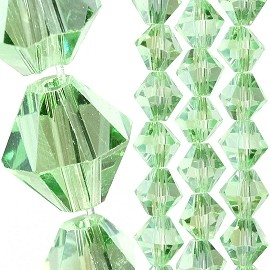 40pc 8mm Bicone Crystal Bead Spacers Light Green JF1706