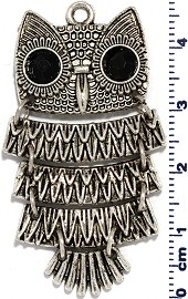 Metallic Pendant Owl Spacer JF1717