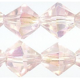 40pc 8mm Bicone Crystal Bead Spacers AB Lt Pink JF1724