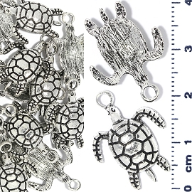 15pc Spacer Jewelry Part Turtle Silver JF1728
