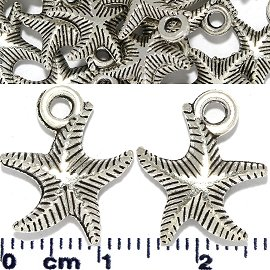 25pc Spacer Jewelry Part Starfish Silver JF1733