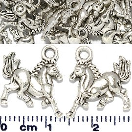 30pc Spacer Jewelry Part Horse Silver JF1736
