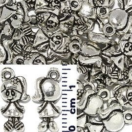 30pc Spacer Jewelry Part Girl Dress Silver JF1738