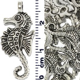 15pc Spacer Jewelry Part Seahorse Silver JF1741