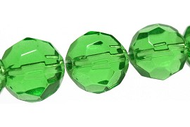 35pcs Crystal Round Multifaceted Spacer 10mm Green JF1794