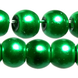 200pc 5mm Faux Pearl Smooth Bead Spacer Green JF1818