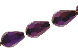 Cut Tear 12x8mm 50pcs Purple JF1922