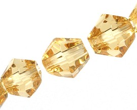 4mm Bicone Crystal Amber color 120pcs JF1932
