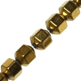 65pcs 5mm Hematite Beads Gold JF1980