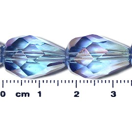 20pc 17x12mm Teardrop Crystal Spacer Bead Light Blue JF2052