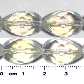 20pc 17x12mm Teardrop Crystal Spacer Bead Clear JF2054