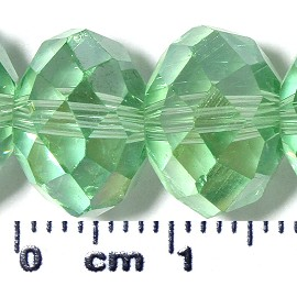 70pc 12mm Spacer Crystal Bead Light Green AB JF2082