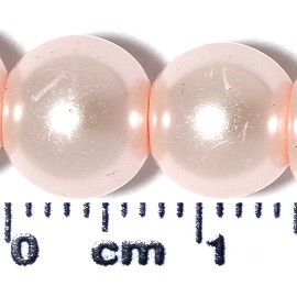 110pc 8mm Ball Faux Smooth Pearl Spacer Bead Pink JF2135