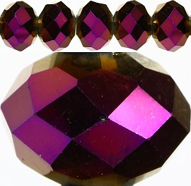 60pcs 14mm Spacers Crystal Beads Purple Solid JF214