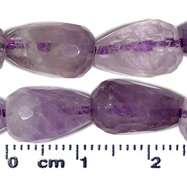 32pc 12x8mm Teardrop Cut Glass Spacer Bead Light Purple JF2153