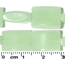 24pc 15x10x6mm Rectangle Spacer Bead Frost Light Green JF2196