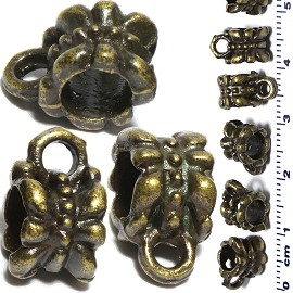 10pc Charm Spacer Part Dangle Connector Antique Bronze JF2200