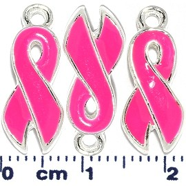 3pcs Ribbon Dangle Spacers Hot Pink JF2222