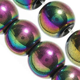 44pcs 8mm Round Beads Spacers Plastic AB Aurora Borealis JF2255
