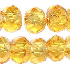 200pc 2mm Crystal Bead Spacer Gold Yellow JF2264