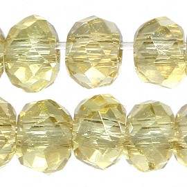 200pc 2mm Crystal Bead Spacer Light Pale Yellow JF2266