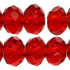 200pc 2mm Crystal Bead Spacer Red JF2267