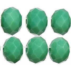 100pc 6mm Crystal Bead Spacer Frost Light Green JF2275