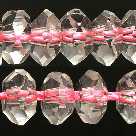 100pcs 6mm Crystal Bead Spacer Light Pink JF2288